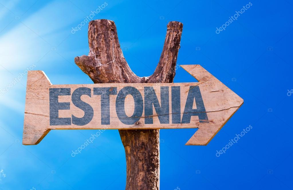 Estonia wooden sign