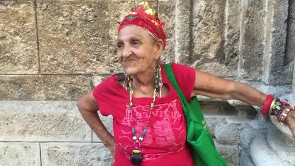 Old Cuban Woman dancing