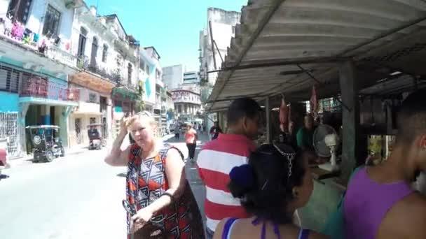 Market food on street in Havana