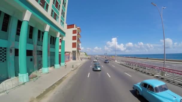 Driving in Havana, Cuba