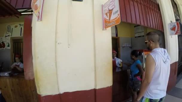 Cubans buying a food