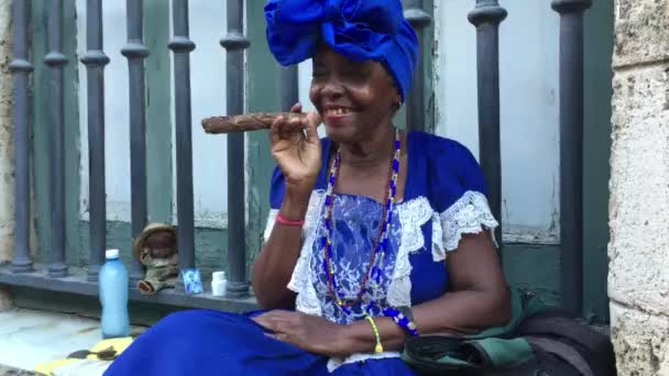 Black Lady Dancing with Cigar
