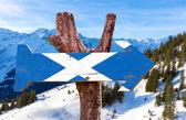Skotské vlajky vývěsní štít