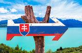 Fotografie Vývěsní štít Slovenské vlajky
