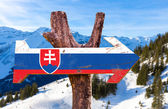 Photo Slovakia Flag wooden sign
