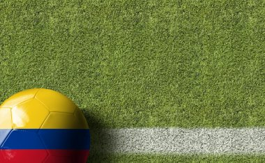 Ball with flag of Colombia