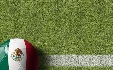 Ball with Mexico flag