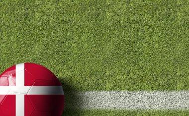 Ball with Denmark flag