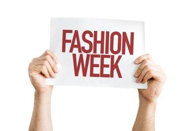 Fashion Week placard