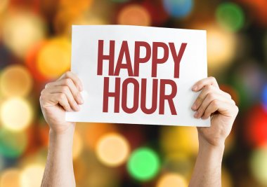 Happy Hour placard