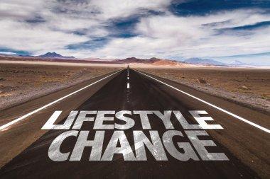 Lifestyle Change written on road