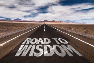 Road to Wisdom written on road