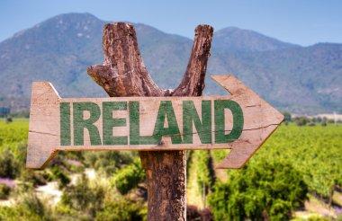 Ireland wooden sign