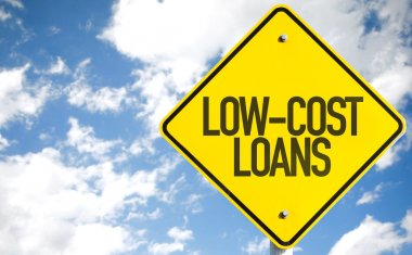 Low-Cost Loans sign
