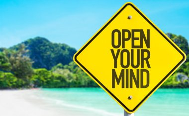Open Your Mind sign