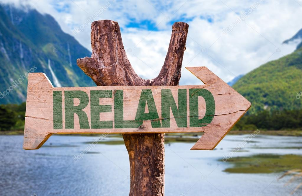 Ireland wooden sign