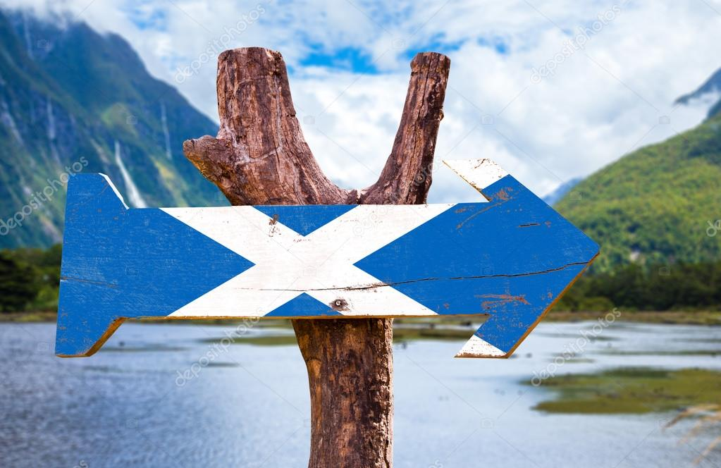 Scotland flag wooden sign