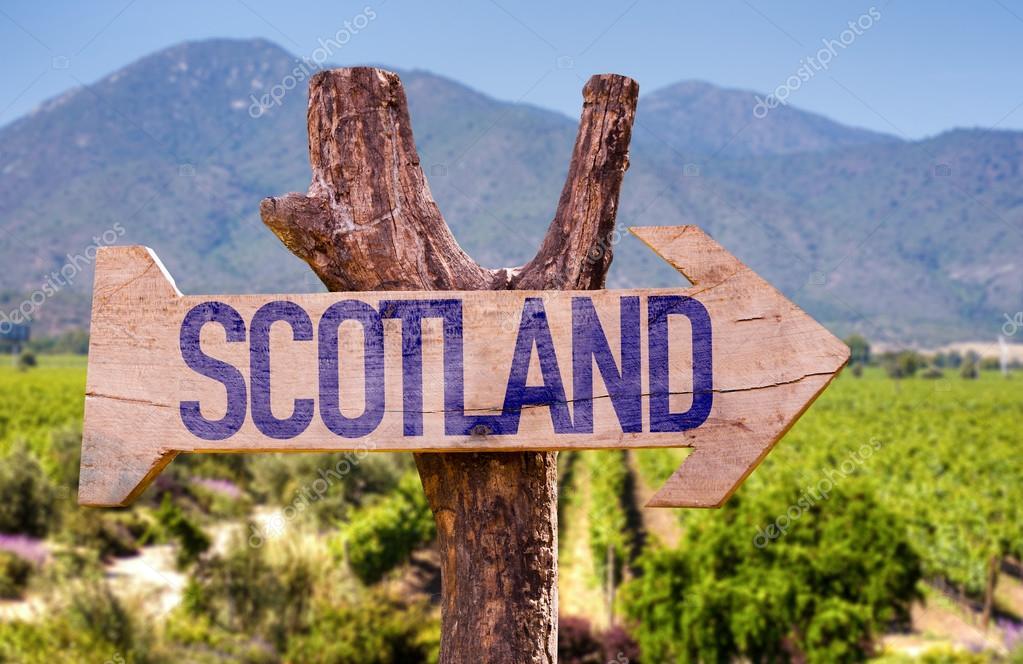 Scotland wooden sign