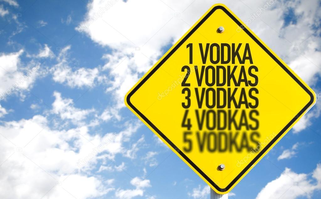 1 Vodka...5 Vodkas sign