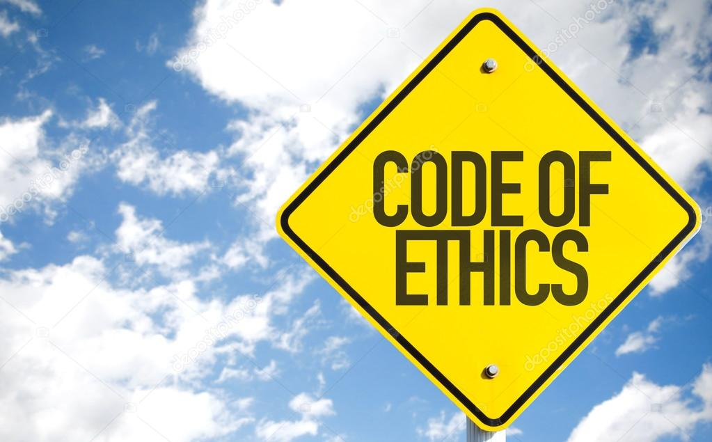 Code of Ethics sign