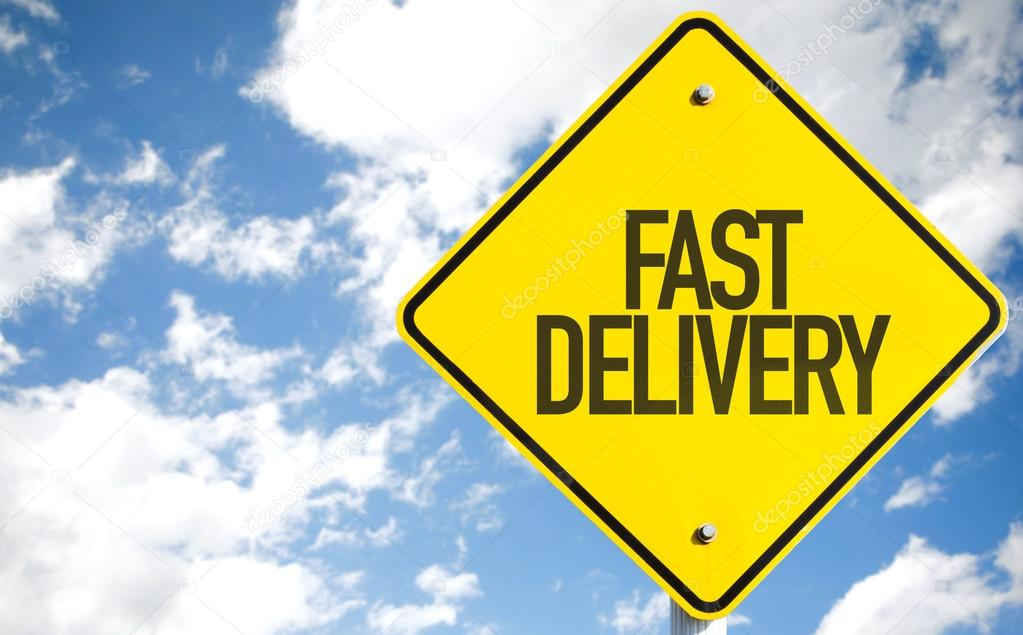 Fast Delivery sign
