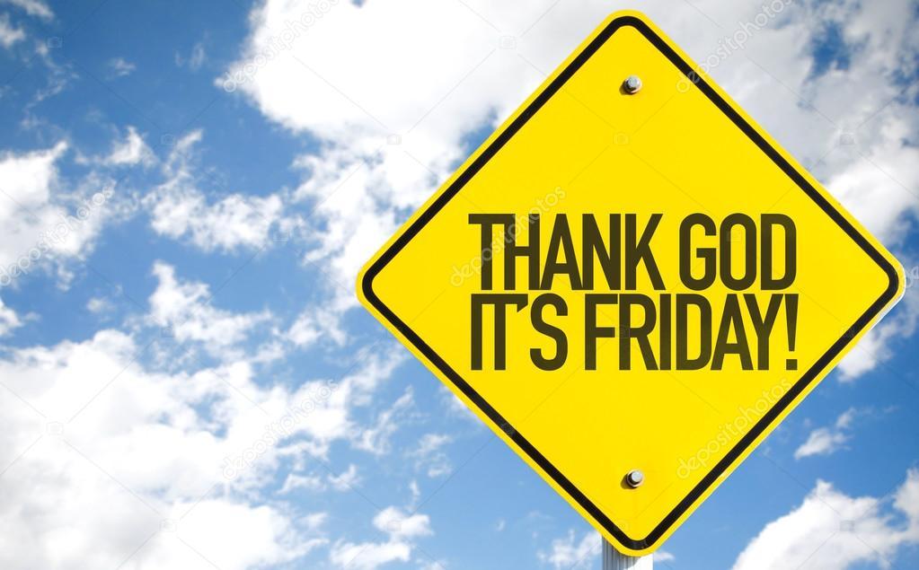 Thank God Its Friday Sign Stock Photo Gustavofrazao 85670236