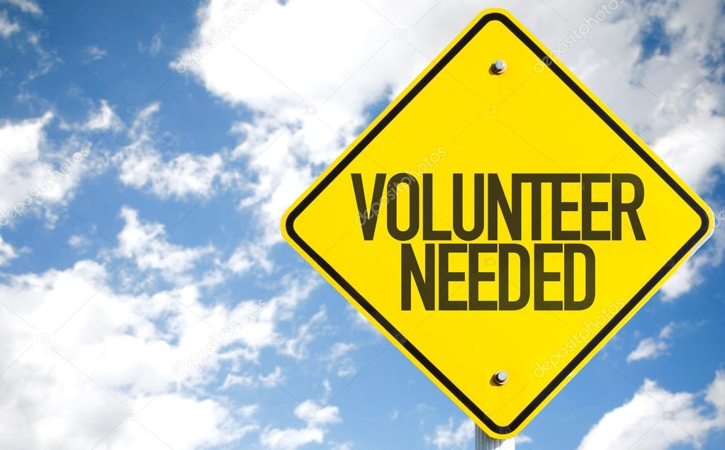 Volunteer Needed sign