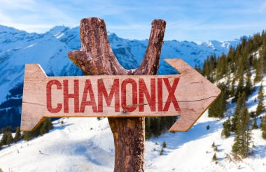 Chamonix wooden sign