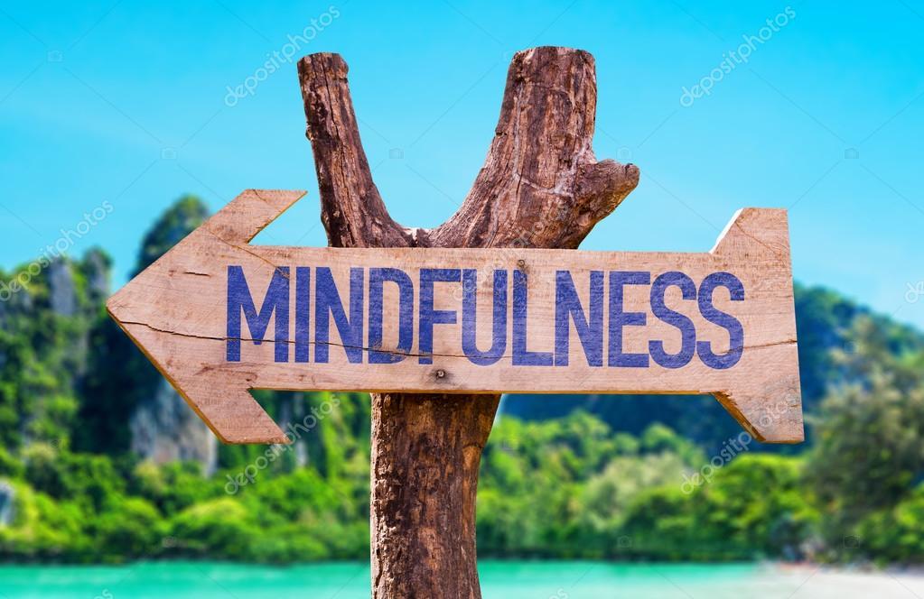 Mindfulness wooden arrow