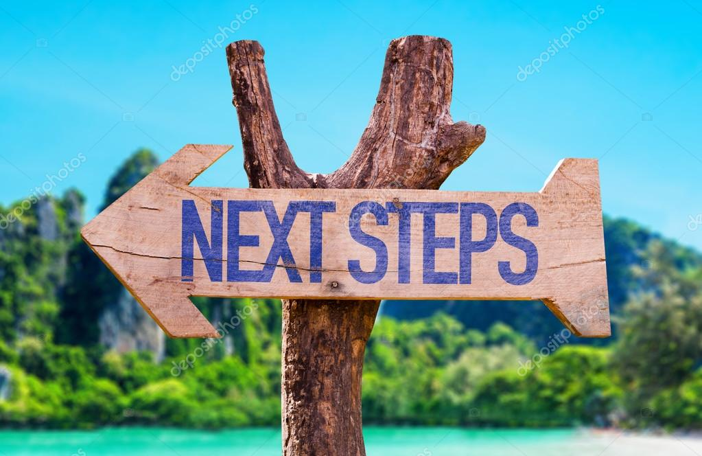 Next Steps arrow