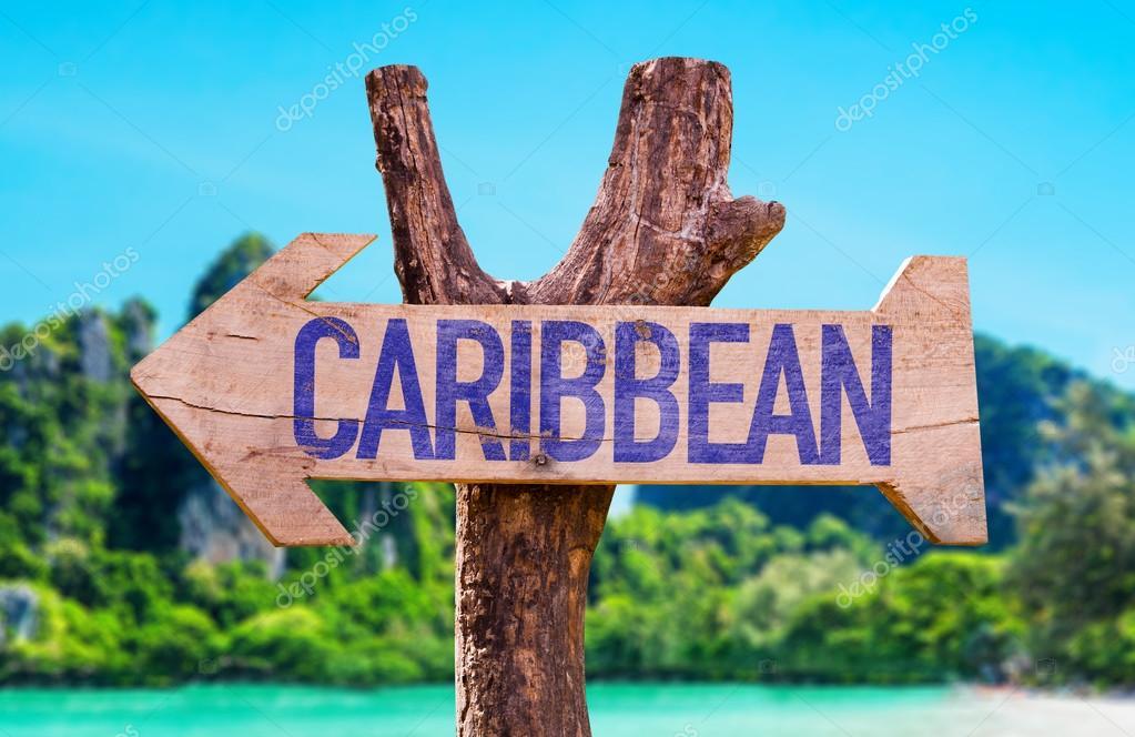 Caribbean wooden arrow