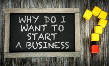 Why do I Want to Start a Business? on chalkboard