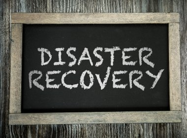 Disaster Recovery on chalkboard
