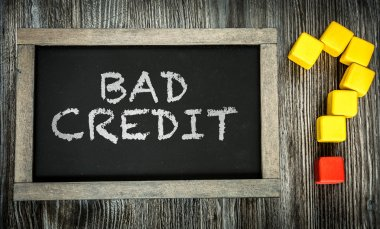 Bad Credit? on chalkboard