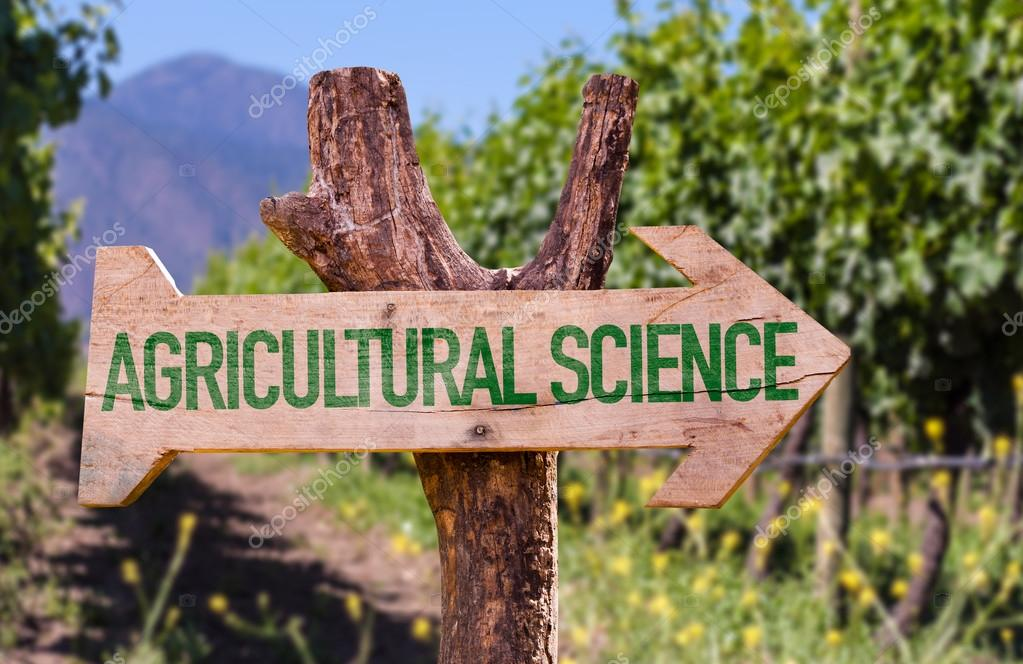 Agricultural Science wooden sig