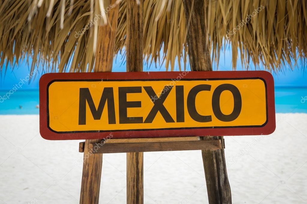 Mexico text sign