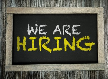 We Are Hiring on chalkboard