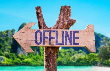Offline wooden arrow