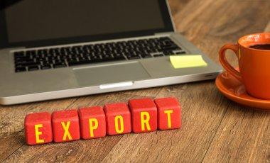 export written on a wooden cubes