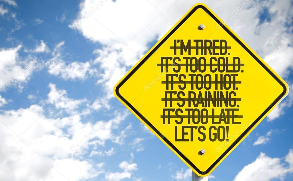 Lets Go! sign