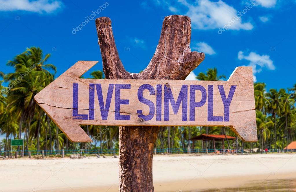 Live Simply arrow