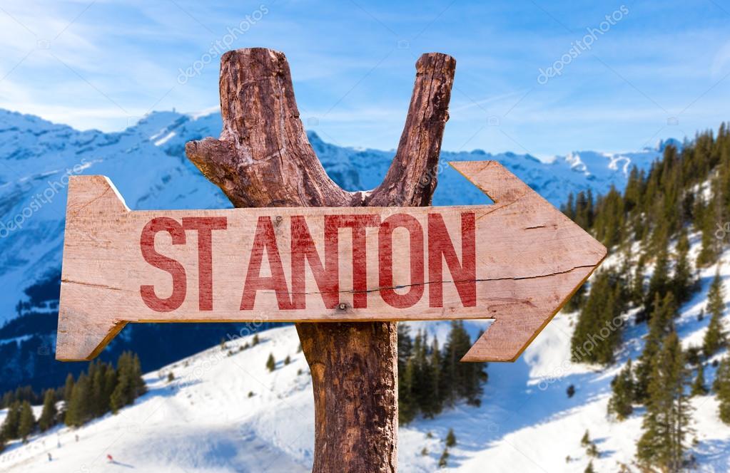 St Anton wooden sign