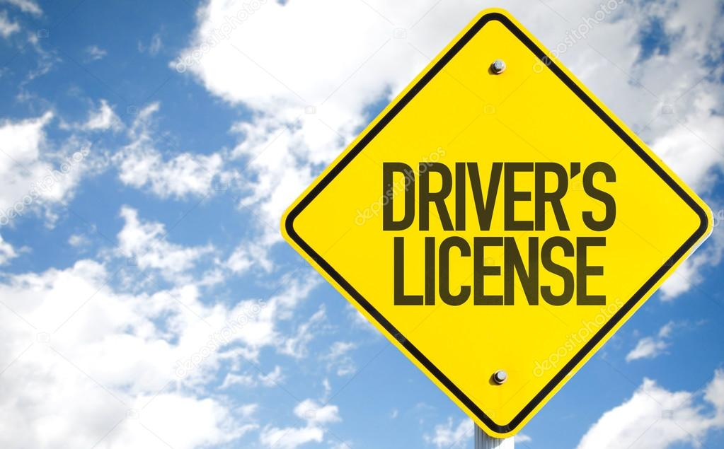 Driver's License sign