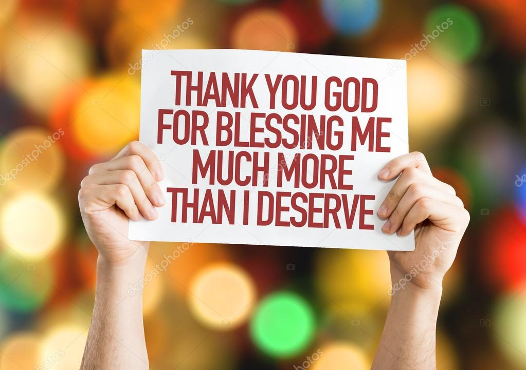 Thank You God For Blessing Me Placard Stock Photo Gustavofrazao