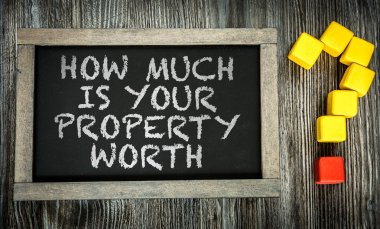 How Much is Your Property Worth? on chalkboard