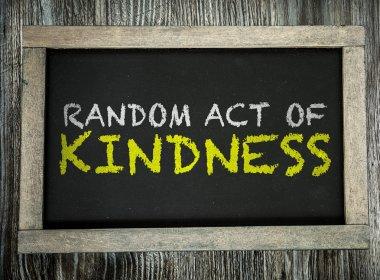 Random Act of Kindness on chalkboard