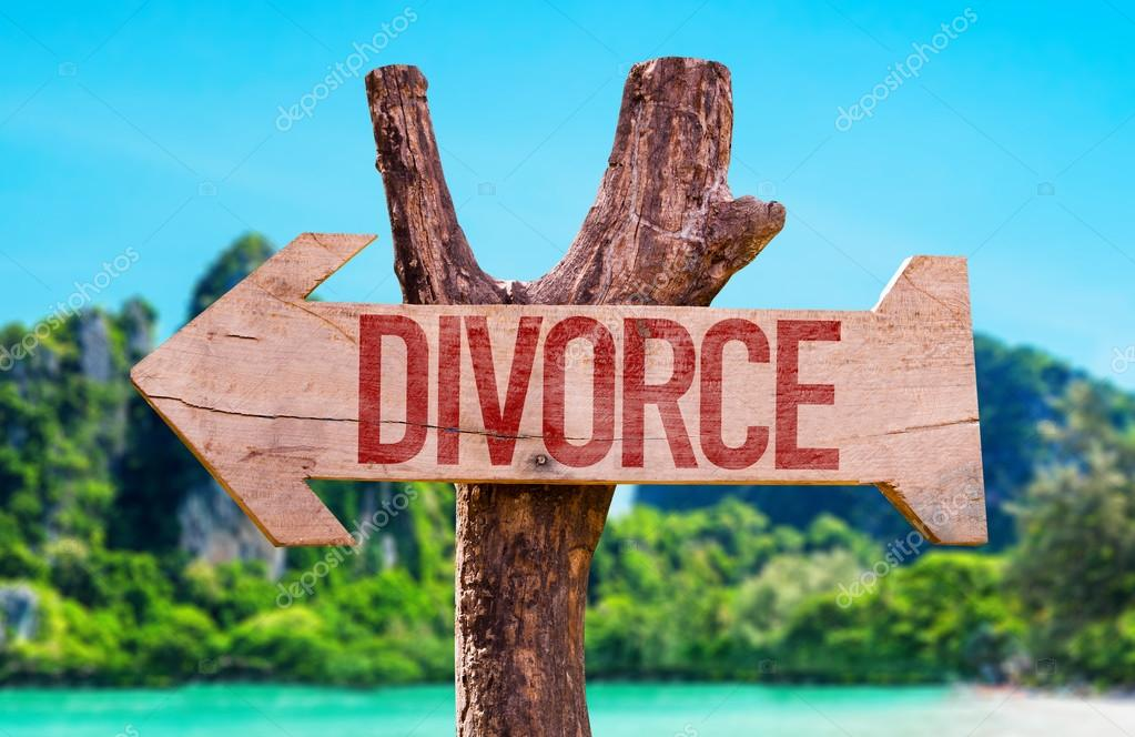 Divorce wooden arrow