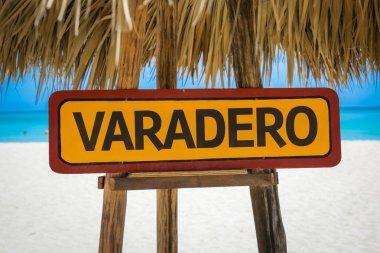 Varadero text sign