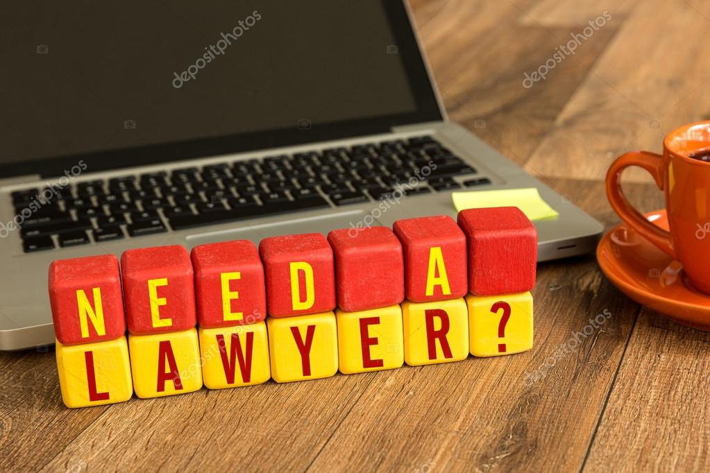 Need a Lawyer? written on a cubes