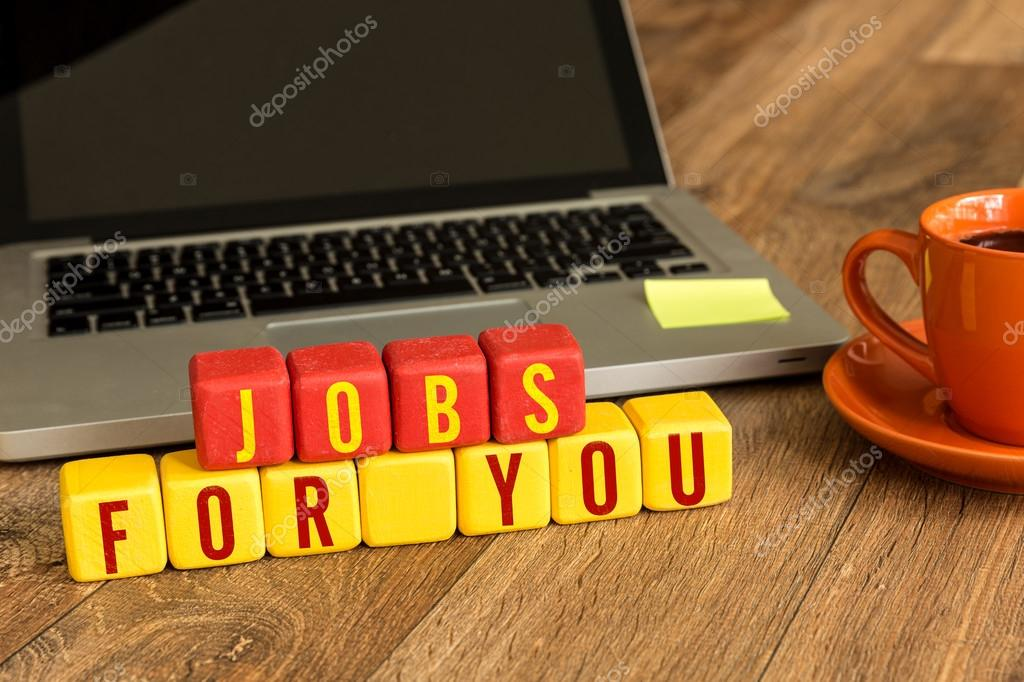 Jobs For You written on cubes